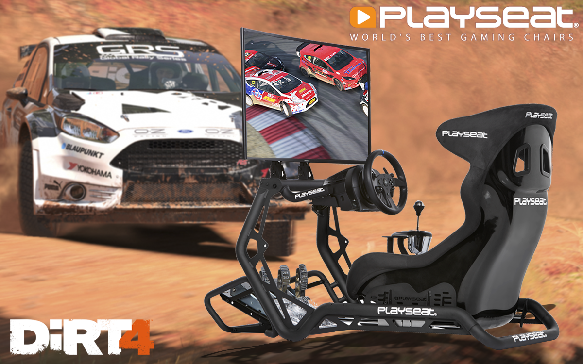 Play DiRT 4 with Playseat®!