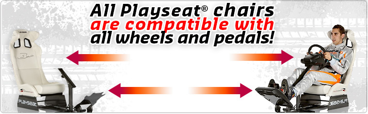 All Playseat® chairs are compatible with all wheels and pedals!